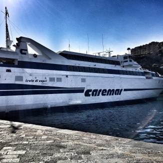 Hydrofoil to Capri.
